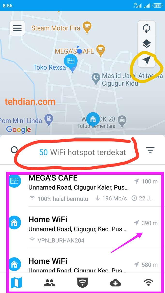 Cara Mengetahui Password Wifi Tetangga Menggunakan Aplikasi Wifi Map 2021