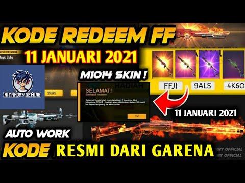 Kode Redeem FF 11 Januari 2021