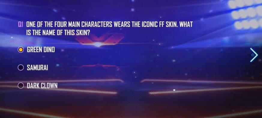 Dari Keempat Karakter utama Salah satu dari Mereka Menggunakan Skin ikonik FF Apa nama Skin itu?